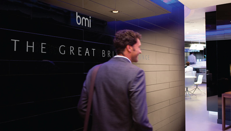 BMI lounge entrance