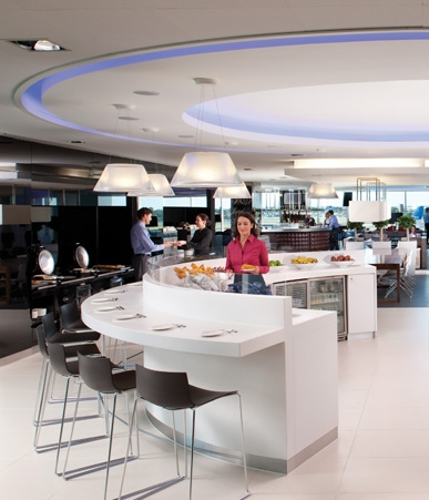 BMI lounge food and beverage area