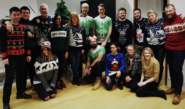 The Honour team - Christmas jumpers